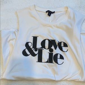 RARE 🟡 AEO muscle tank Love and Lie one size